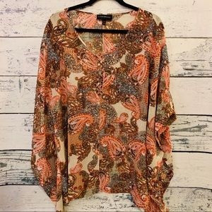 LANE BRYANT SHEER BLOUSE LADIES SIZE 14/16